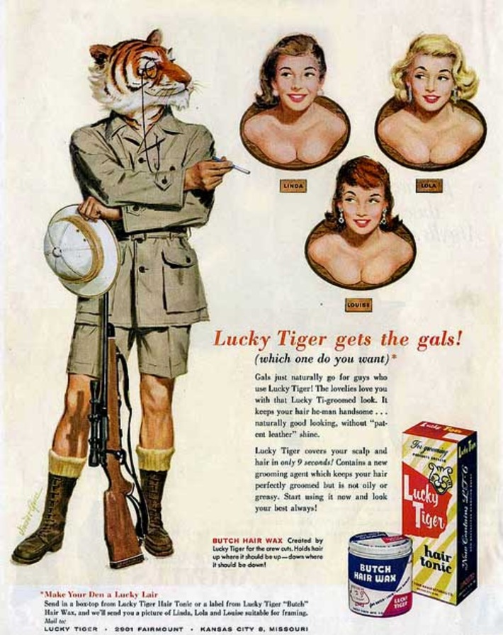 """""""Lucky Tiger Gets the Gals"""", c.1955 - Retronaut 