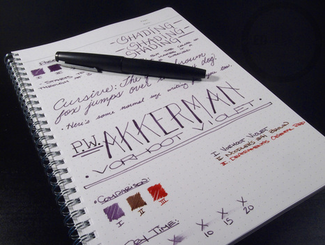 P.W. Akkerman Vorhoot Violet - Ink Review | Writing instruments | Scoop.it
