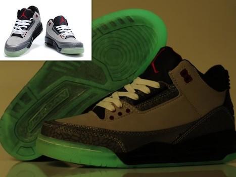 Air Jordan 3 Glow In The Dark Grey Black Shoes Hot Sale Online | Cheap Glow In The Dark Air Jordans | Scoop.it
