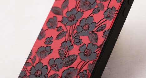 Red flower etched iPhone 5 case | Apple iPhone and iPad news | Scoop.it