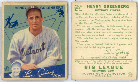 Baseball Card Collector's Mad Quest To Find Every Hank Greenberg Card Ever Made | The Hottest PSA 10 Sports Cards on eBay | Scoop.it