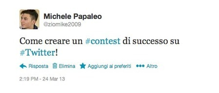 Come creare un contest di successo su Twitter | Social Media post | Scoop.it
