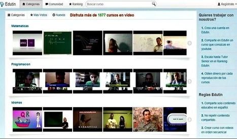 Edutin, cerca de 1700 vídeo cursos en español.- | Ciudades Digitales #Latam | Scoop.it