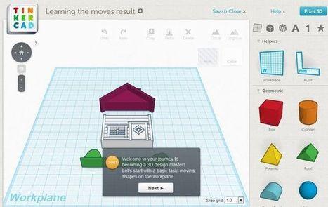 Tinkercard, curso interactivo gratuito para aprender a crear objetos en 3D | Teach-nology | Scoop.it