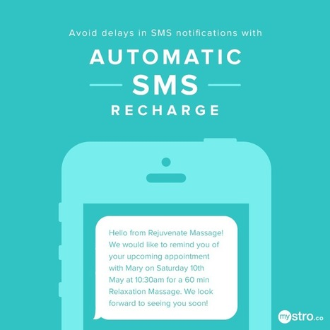 Press Release: Did you know you can automatically recharge your SMS credits in Mystro?   Practice Management Software Mystro   Scoop.it