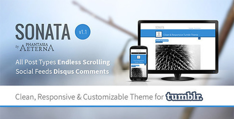 Sonata – Clean Tumblr Theme Download | Tumblr Templates Download | Scoop.it