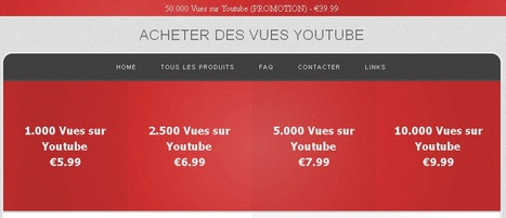 Acheter Des Vues Youtube | mrs | Scoop.it