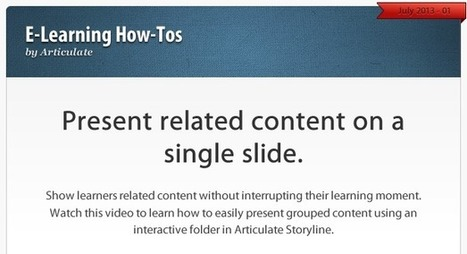 How to show learners related content in a single interaction | Aprendiendo a Distancia | Scoop.it
