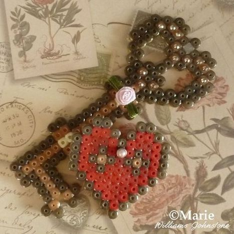 Make Key to My Heart Perler Beads | Crafty Kids | Scoop.it