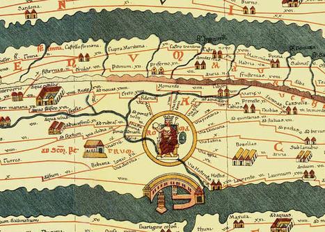 Carte romaine de toutes les routes menants à Rome | cartography & mapping | Scoop.it