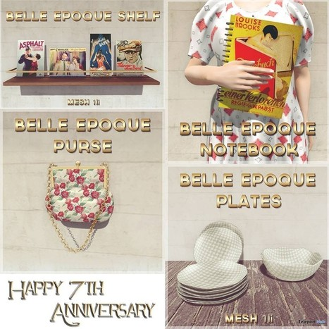 Notebook, Shelf, Plates, and Purse 7th Berlin 1920s Anniversary Gift by Belle Epoque | Teleport Hub - Second Life Freebies | Second Life Freebies | Scoop.it