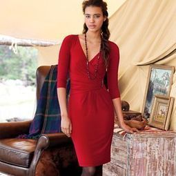 Chaps Faux-Wrap Dress - Petite | fashion jewelry | Scoop.it