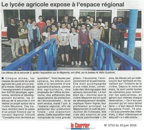 Seconde 3 : le projet EATDD à l'espace régional | Le lycée agricole de Laval | Scoop.it