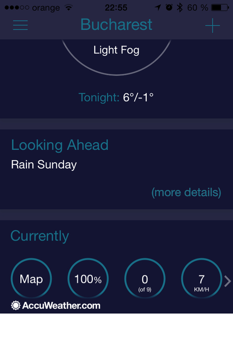 Terrible new design and functionality for AccuWeather's just released new iOS 7 weather app. | DigitalGap | Scoop.it