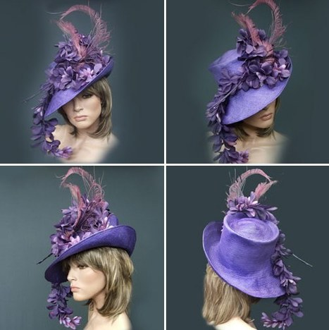 Kentucky Derby Hat of the Day in Passionate Purple | Horse Racing News | Scoop.it