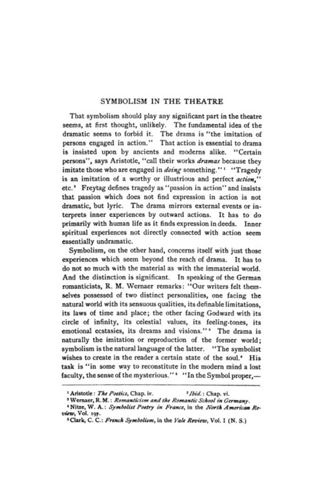 JSTOR: The Sewanee Review, Vol. 28, No. 2 (Apr., 1920), pp. 228-240 | Symbolism in the Theatre | Scoop.it