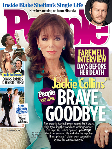Jackie Collins' Inspiring Final Interview Before Breast Cancer Ended Her Life ... - People Magazine | Storied Lives | Scoop.it