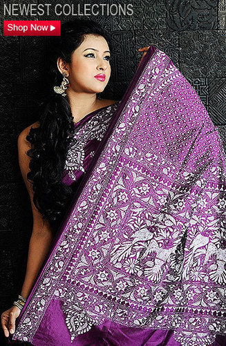 Hand Kantha Stitch All Over Saree | Sorella Boutique – Online Sarees Shopping India | Scoop.it