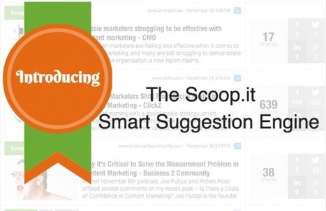 Introducing The New Scoop.it Suggestion Engine: Bringing You More Relevant Content | Scoop.it Blog | Curation in Higher Education | Scoop.it
