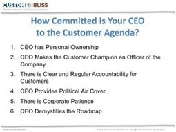 Is Your CEO Serious About Driving the Customer Agenda? — Chief Customer Officer 2.0 | Small Business Operations | Scoop.it