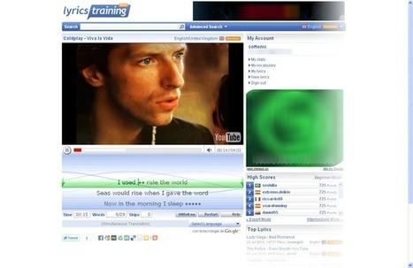 Píldoras TIC: Aprender idiomas viendo vídeos musicales con Lyrics training | Música | Scoop.it