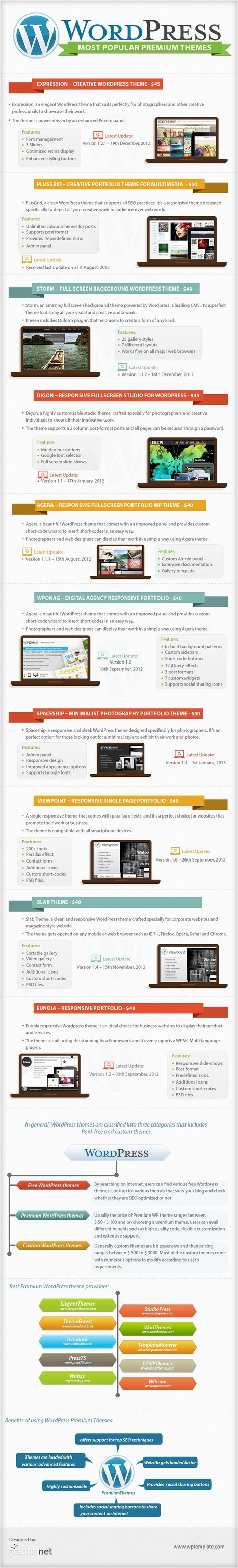 Top 10 Best Responsive WordPress Most Popular Themes | All Infographics | All Infographics | Scoop.it