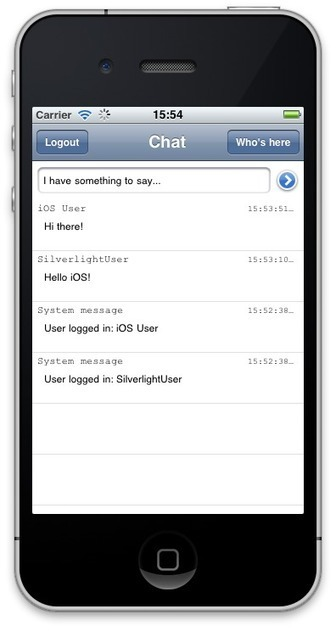 SuperHTTP Chat (iOS) Sample (Xcode) - RemObjects Wiki | My sample App | Scoop.it