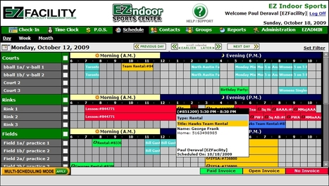 Facility Schedule | Sports Facility Management.4217249 | Scoop.it