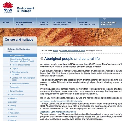 Aboriginal people and cultural life | NSW Environment & Heritage | migration and Australian heritage | Scoop.it