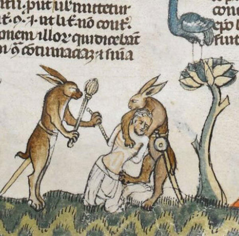 Why are there violent rabbits in the margins of medieval manuscripts? | D_sign | Scoop.it