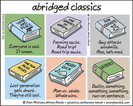 Extremely Shortened Versions of Classic Books For Lazy People | Strange days indeed... | Scoop.it