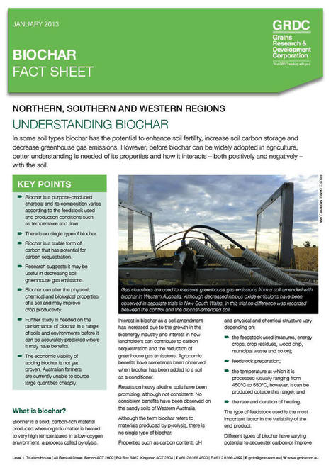 Biochar Factsheet - Grains Research & Development Corporation | BioChar | Scoop.it