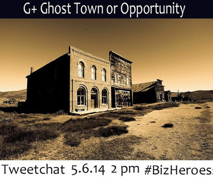 G+ Ghost Town or Opportunity 2pm EST Today with Paper.li's Kelly Hungerford | Collaborative Revolution | Scoop.it