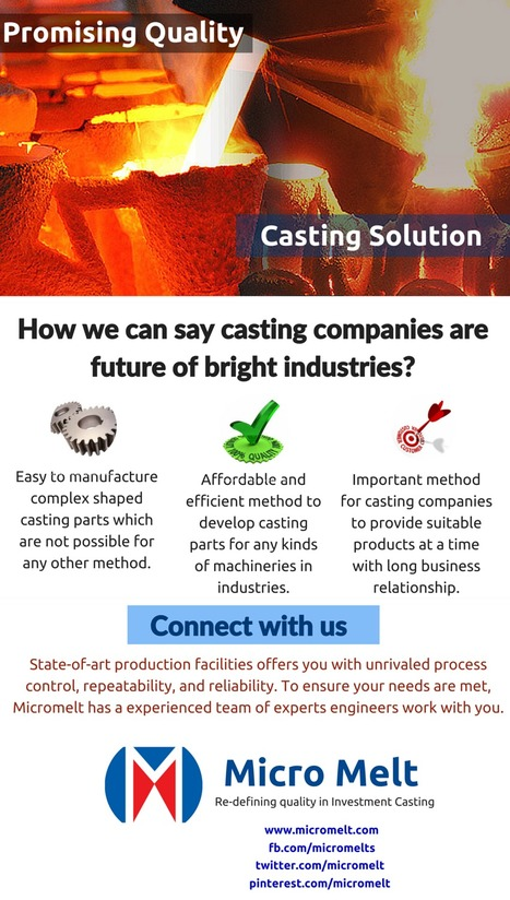 How we can say casting companies are future of bright industries? | Casting Industries | Scoop.it