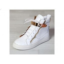 Giuseppe Zanotti High Top Croc Embossed Buckle Sneakers In White | Red Bottom Shoes | Scoop.it