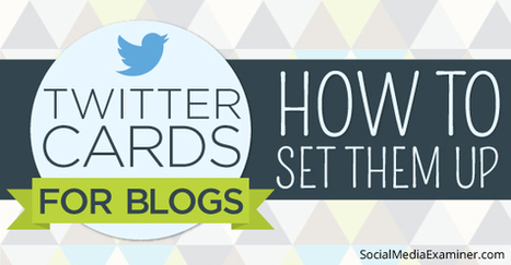 Twitter Cards for Blogs: How to Set Them Up | Web Design | Scoop.it