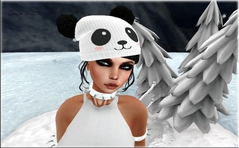 Back to School Hat Hunt with a Panda Pom Pom hat by {Eclipse} | 亗 Second Life Freebies Addiction & More 亗 | Scoop.it