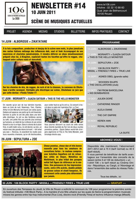 Newsletter #14 le 106, scène de musiques actuelles | Da Rouen et zalentours | Scoop.it