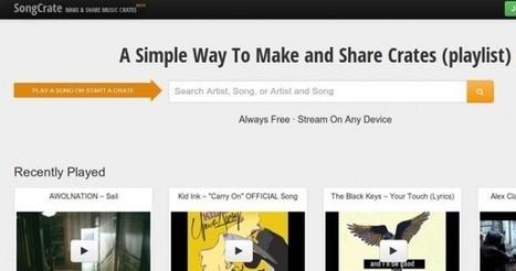 songcrate, para crear y compartir listas de música | Las TIC y la Educación | Scoop.it