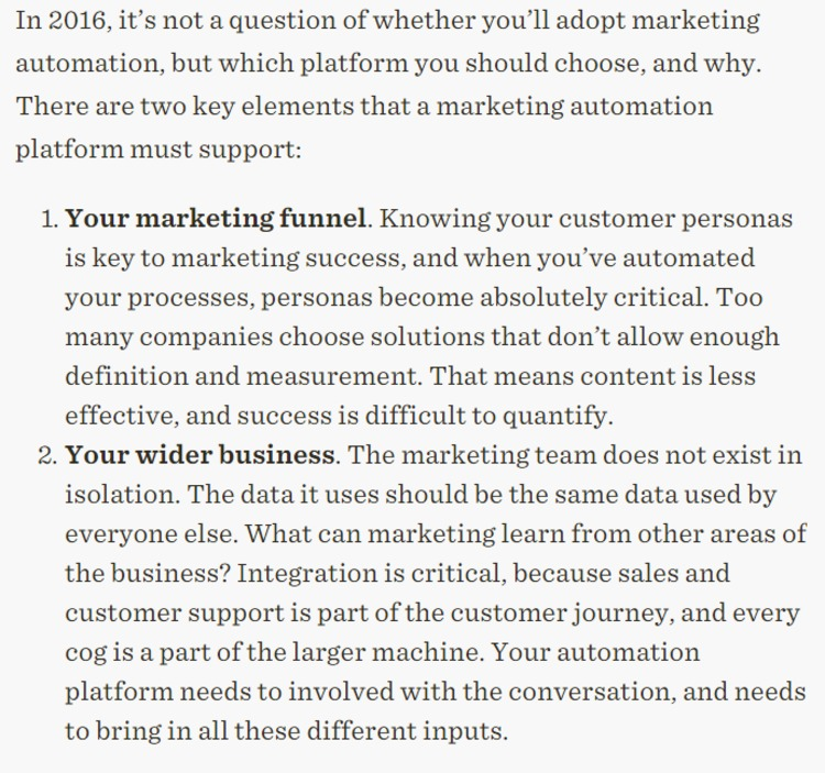 Why You Can't Afford to Ignore Marketing Automation in 2016 - Position² | The Marketing Technology Alert | Scoop.it