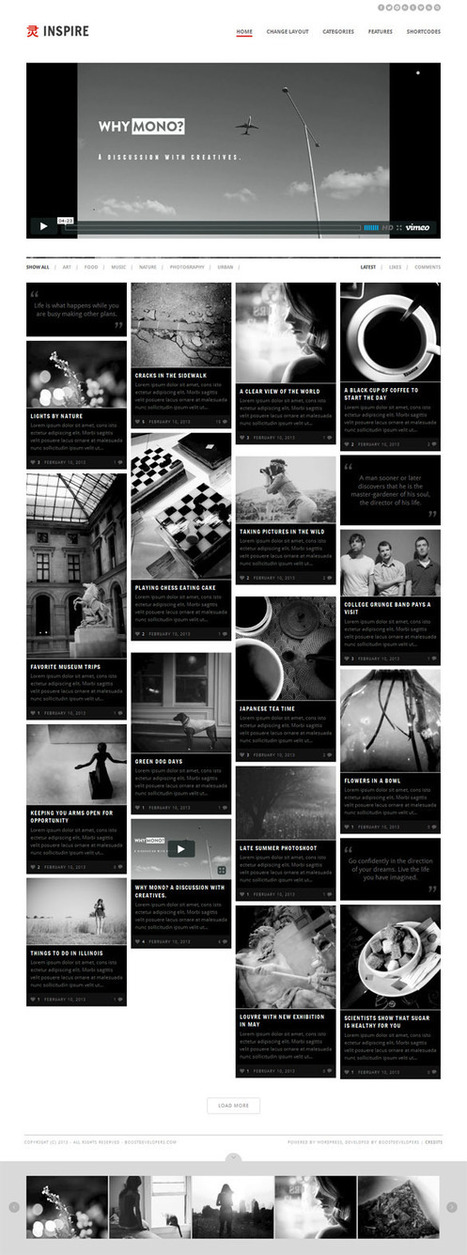 Inspire, WordPress Multi-Purpose Masonry Theme   WP Download   sr_redford   Scoop.it
