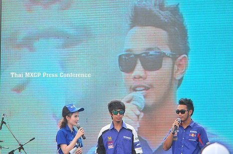 """Chaiyan & Trakarn"" on stage ""X the world"" ThaiMXGP launching 