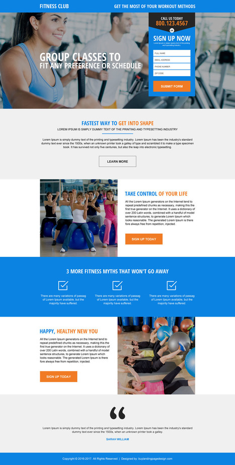 Health And Fitness Landing Page Design Templates For Sale | BuyLPDesign Blog | best landing page design | Scoop.it