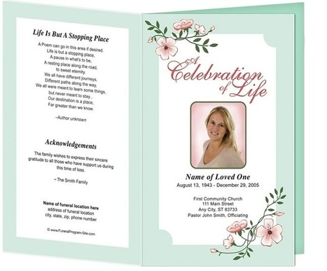 Customized Funeral Templates for Funeral Program | Ready Made Celebration Templates | Scoop.it