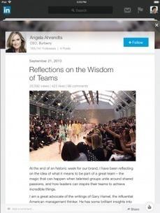 LinkedIn s'intègre à Mail et lance une mise à jour iPad | La Mêlée Numérique by Lydia | Scoop.it