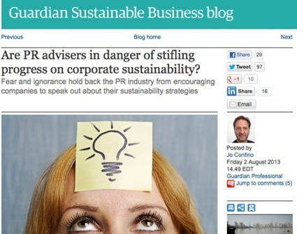 Progress on Corporate Sustainability: Are PR Advisers Part of the Problem? | SocialVoice | Scoop.it