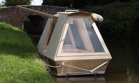A micro houseboat that you can tow with your bike | Ô bô velô ! | Scoop.it