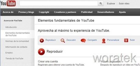 YouTube Essentials, aprender a usar YouTube al máximo | Woratek - Tecnología que te ayuda | Tic, Tac... y un poquito más | Scoop.it