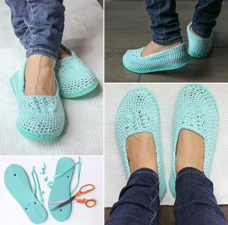 Make These Crochet Slippers with Flip Flop Soles   Stylish Board   Scoop.it