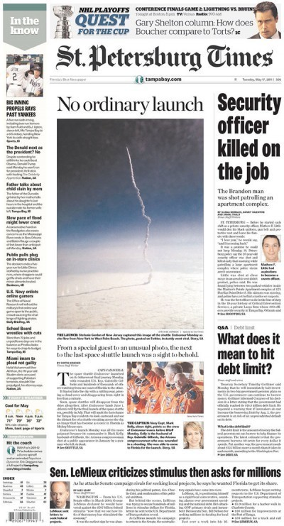 How the St. Pete Times scored that 'viral' shuttle picture for A1 today « Charles Apple « copydesk.org | Innovations in journalism | Scoop.it